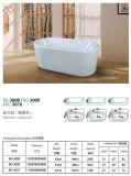 Oval Comfortable Durable White Acrylic Bathtub (BG-3008/BG-3009/BG-3010)
