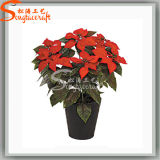 2016 Hot Sale Artificial Plastic Christmas Bonsai Silk Flower