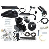 "80cc 26"" or 28"" Bike Bicycle Motorized 2 Stroke Cycle Motor Engine Kit Set Black"