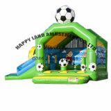 Green Football Theme Inflatable Combo