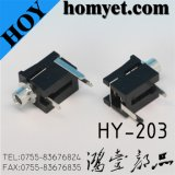 2.5mm DIP Type Phone Jack with 3 Pin (HY203)