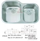 Double Stainless Steel Sink (D79)