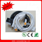 USB Data Cable Charger Car Aux USB Audio Cable for iPhone 4 3G 3GS