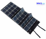 Canvas Fabric 120W Folding Sunpower Solar Panel Charger with 18V Output for for Laptop, Boat, Golf Cart 12V Batery (FSC-120A)