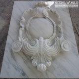 Bianco Carrara Carving Panel for Art Display (CV013)