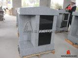 2 Niche Grey Granite Columbarium with Shanxi Black Doors