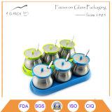 Glass Seasoning Jars with Plastic Racks