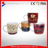 Wholesale Promotion White Blank Ceramic Coffee Mugs with Decal (GP1005)