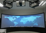 Large Format Curved Projection Screens for Simulator System