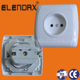 European Style Flush Mounting 2 Pin Wall Socket Outlet (F3009)