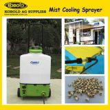 16L Outdoor Mist Cooling Trolley HDPE Battery Sprayer