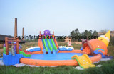 2017 Popular Inflatable Water Park Slide with Big Pool for Kids, Inflatable Water Pool Park