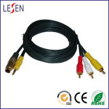 AV Cables, 3.5st + S-Video to 3RCA Plugs