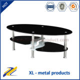 Oval Glass Top Center Table/Coffee Table