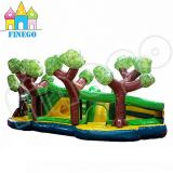 2015 Finego Funny Tree Kids Inflatable Moonwalk Jumping Bouncer