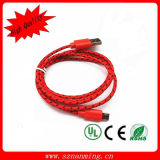 (2 Meter) Extra Long Durable Fabric Braided Nylon Charging Cord Micro USB Data Sync Cable