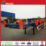 Two Axles Skeletal Container Terminal Trailer 3 Axle