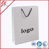 Custom Luxurious Shopping Paper Bags with Flat Twill Handle