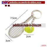 Racket Ball Key Ring Chain Alloy Keychain Keyfob Wedding Gift (G8089)