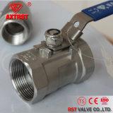 Threaded Reduce Port Pn16 1PC Stainless Steel Ball Valve