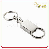 Shiny Nickel Pull Apart Engraving Metal Key Chain