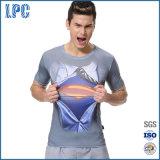 3D Digital Print High Elastic Tight Sport T-Shirt