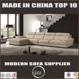 2017 Top Grain Living Room Leather Sofa with Pillow Arms