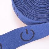 Thin Blue Colored Dacron/Nylon/Cotton Strap Elastic for Climbing