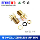 Straight PCB Mount Female SMA Connector RF Connector