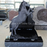 Shanxi Black Granite Horse Carving Design Monument