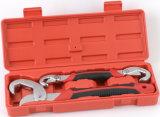 Adjustable Quick Snap′n Grip Wrench Spanner Kit (JD6134)