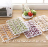 Single Layer Covered with Plastic Dumplings Box
