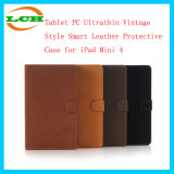 Tablet PC Ultrathin Vintage Style Smart Leather Protective Cover Case for iPad Mini 4