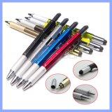 Versatile Stylus Pen Tool 6 in 1 Pen Multitool Ballpoint Pen, Stylus, Ruler, Screwdrivers, Level Gauge
