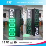 "Double Sided 12"" Green Color Outdoor Gas Price LED Sign"