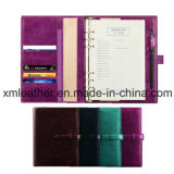 Fashion Personalized Leather Cover Journal Diary with Ring Binder