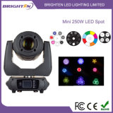 250W Super Mini LED Moving Head Spot Lights for DJ