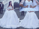 2017 Lace Bridal Dress Arabic Luxury Wedding Ball Gown We16