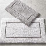 High-Low Border Design Cut and Loop Microfiber Non-Slip Bath Mat