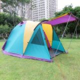Outdoor Camping Breathable Waterproof Canopy 3-4 People Double Tent
