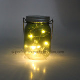 Hanging Shine Fairy Firefly Flickering Jar Lights with Solar Function