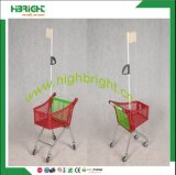 Supermarket Store Color Kids′ Shopping Trolley with Flag