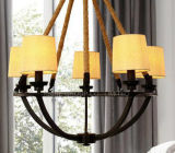 Modern Bedside Bar Decorative Chandelier for with Fabric Shade
