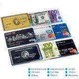 Waterproof U Disk Flash Card 32GB/16GB/8GB Bank Credit Card Shape USB Flash Drive Pen Drive Banknote Memory Flash Stick