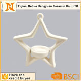 Star Shaped Ceramic Candle Holder for Home Decoration