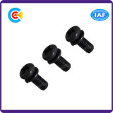 Black Zinc Cross Pan Head Screw for Electronics/Appliances with Washer