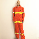 Yellow Reflective Tape Safety Uniform Orange Workwear with Magic Tape
