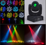 Mini DMX512 30W LED Spot Wash Gobo Moving Head