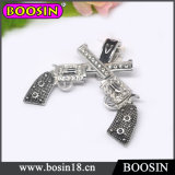 Men′s Jewelry Double Cross Gun Necklace with Magnetic Clasps #19038