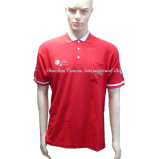 High Quality Red Poloshirt with Pocket and Embroidery Logo